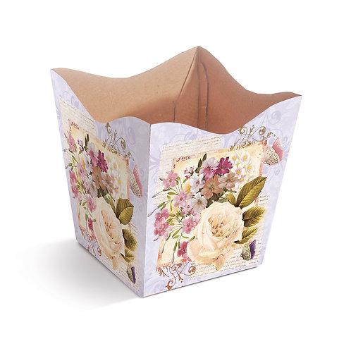 Cachepot Primavera Rosas e Versos Lilás