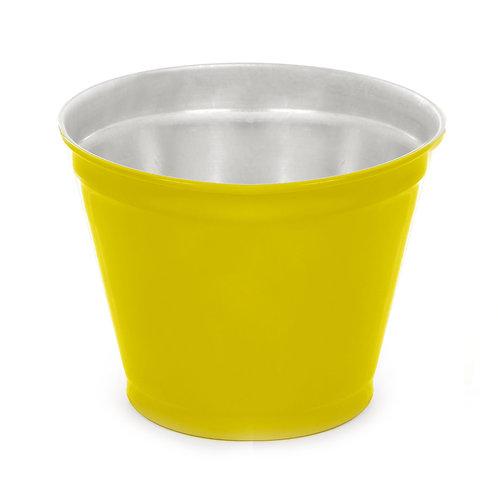 Vaso de Alumínio Liso Amarelo