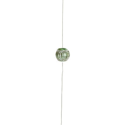 Cordão Decorativo com Pedraria Contas Verdes