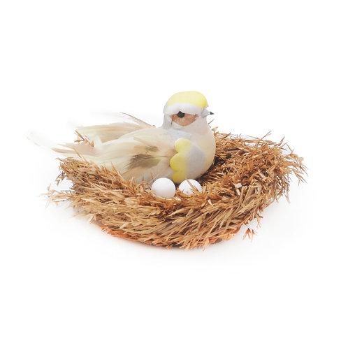Pássaro no Ninho c/ Pena Grande