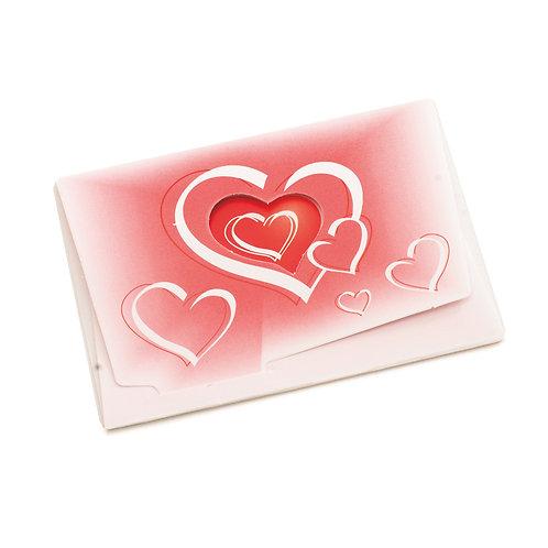 Cartão Horizontal Corações