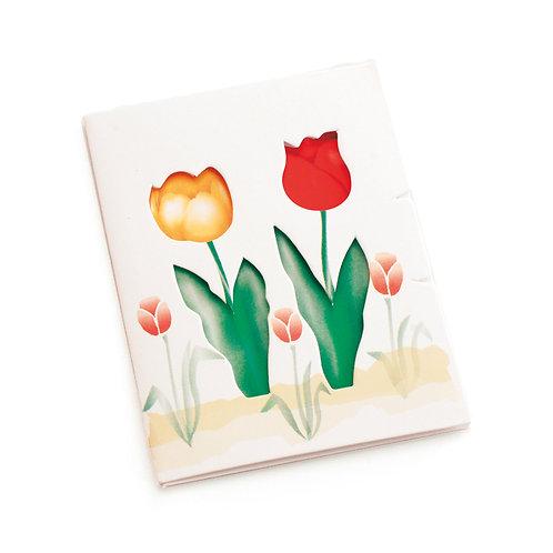 Cartão Vertical Tulipa