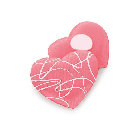 Adesivo Coração Arabesco Branco/ Rosa