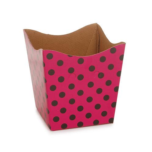 Cachepot Bolas Preto com Pink