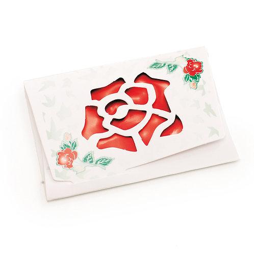 Cartão Horizontal Rosa