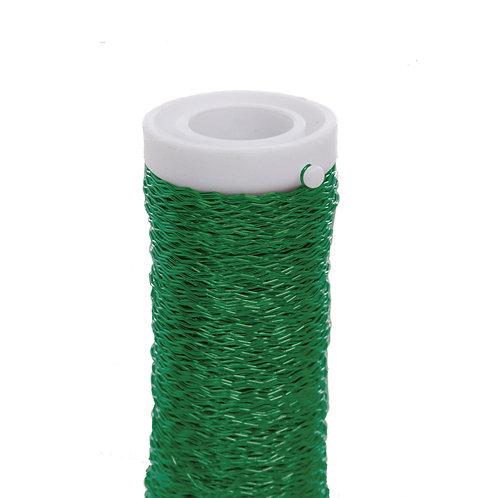 Arame Decorativo Ondulado Verde Folha