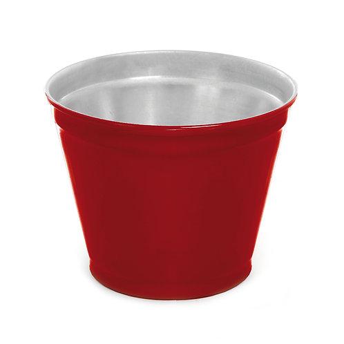 Vaso de Alumínio Liso Vermelho