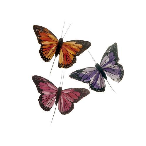 Borboletas Rosa/ Lilás/ Laranja