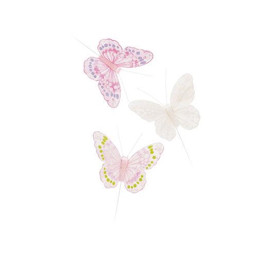 Borboletas Pena Rosa/ Branco/ Pink