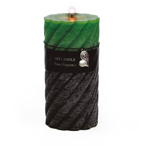 Vela Aromática Espiral Verde Escuro/verde Claro