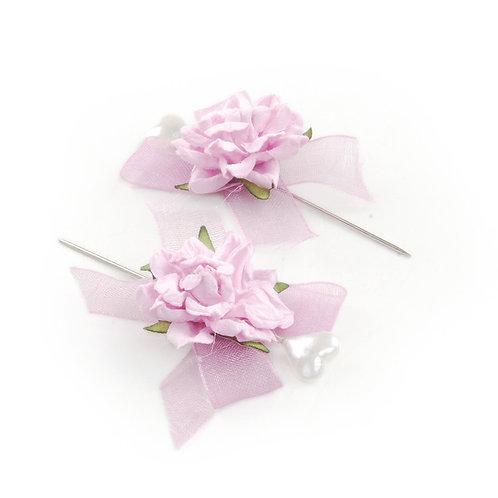 Alfinete Rosas Pequenas Lilás
