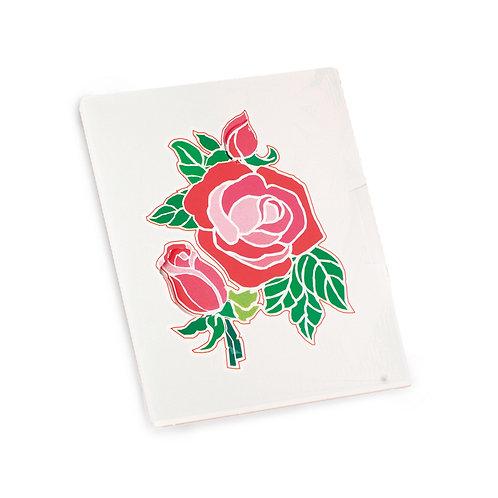 Cartão Vertical Rosa