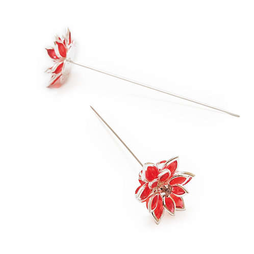 Alfinete Flor Vermelha
