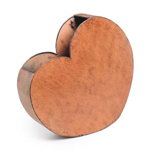 Coração Metal Envelhecido