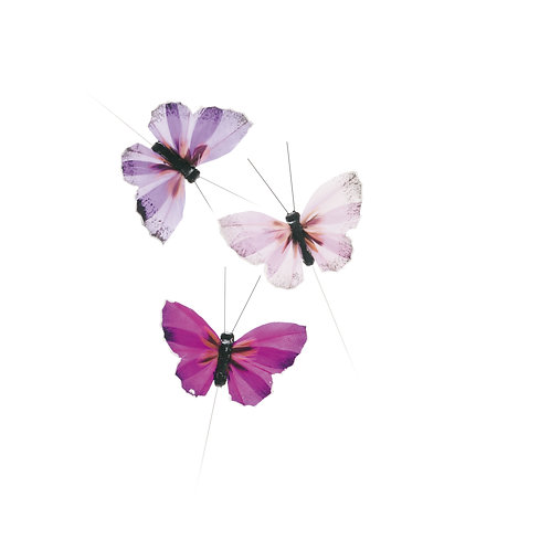 Borboletas Pena Roxa/ Lilás/ Rosa