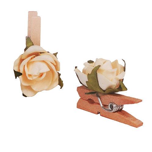 Pregador Floral Mini Rosa Champagne