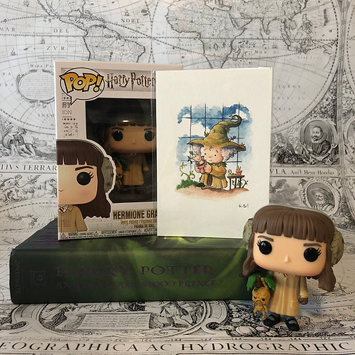 Hermione Funko POP and Professor Sprout print