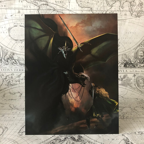 Eowyn: Shieldmaiden of Rohan and Witch King of Angmar print (LOTR)