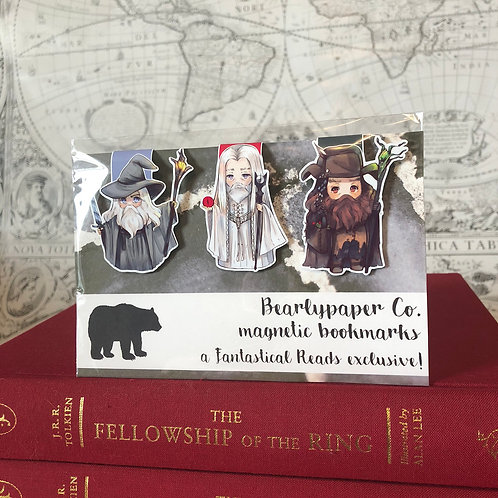 LOTR Tri-Wizard magnetic bookmarks (BearlypaperCo)