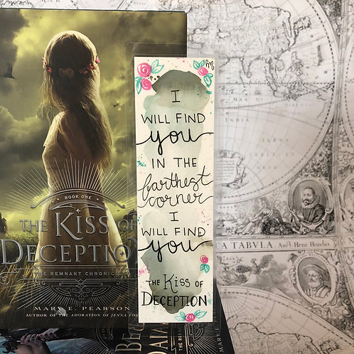 The Kiss of Deception bookmark (CM Bookmarks)