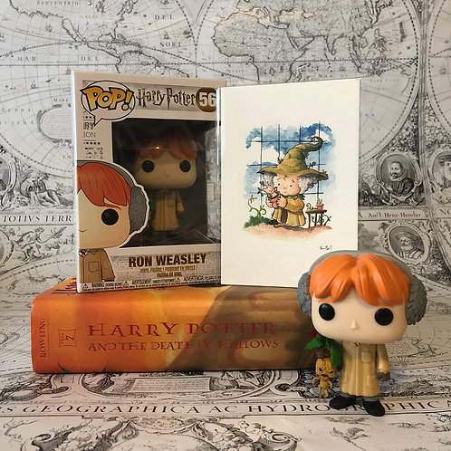 Ron Weasley Funko POP and Professor Sprout print