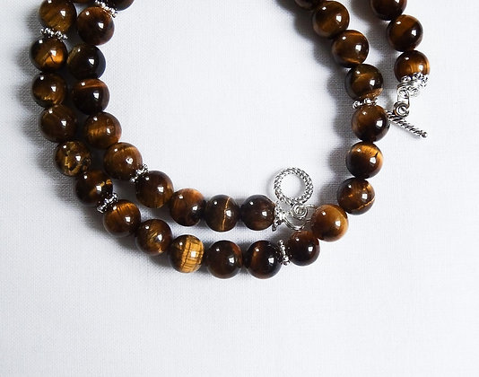 Tiger's Eye Gemstones Necklace