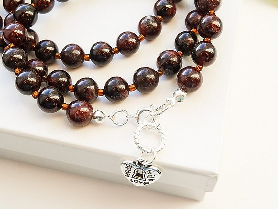 Garnet Gemstones Necklace