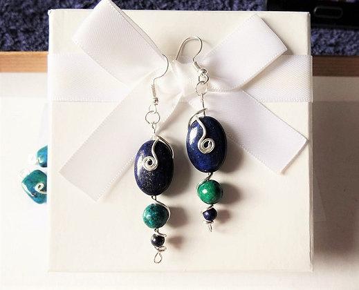 Lapis Lazuli and Chrysocolla Set