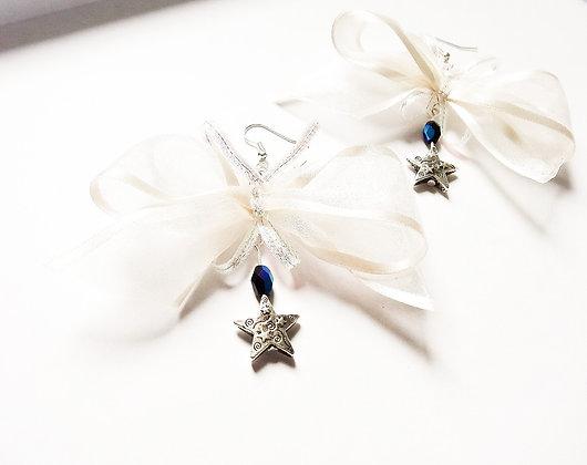 White Butterflies Earrings