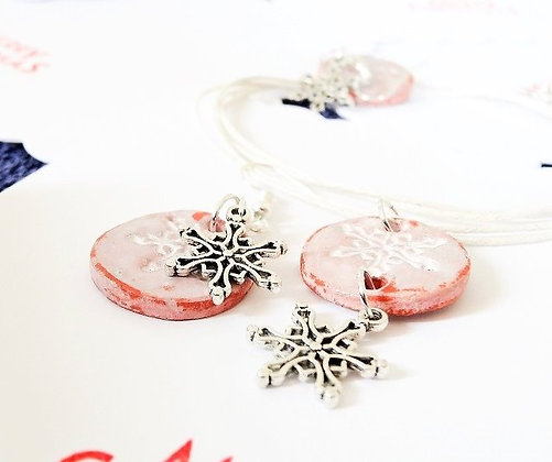 Pink Ceramic Jewellery Set
