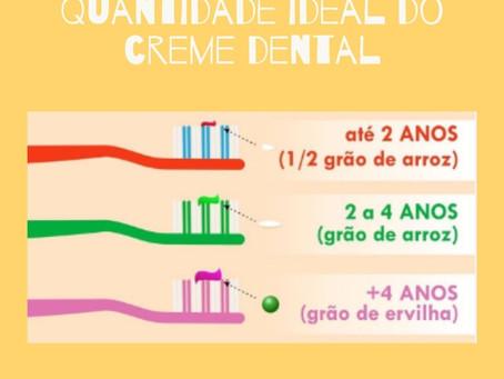 Qual a quantidade ideal do creme dental???