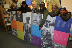 Lambeth Mayor Councillor Clive Bennett & young writers side view.jpg