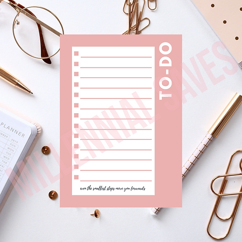 To-Do List in Pink and White