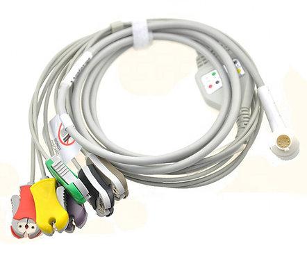 6-poliges EKG-Diagnoseergänzungskabel kompatibel zu Corpuls C3