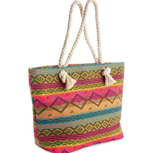Womens Multi Colour Tote Shopper Beach bag