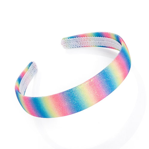 Sparkly Rainbow Womens Girls Head band
