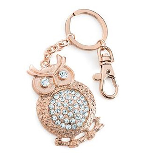 Rose Gold Owl Key ring