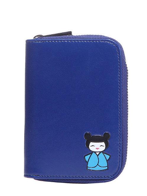 Small Blue Purse Japanese Geisha Girl