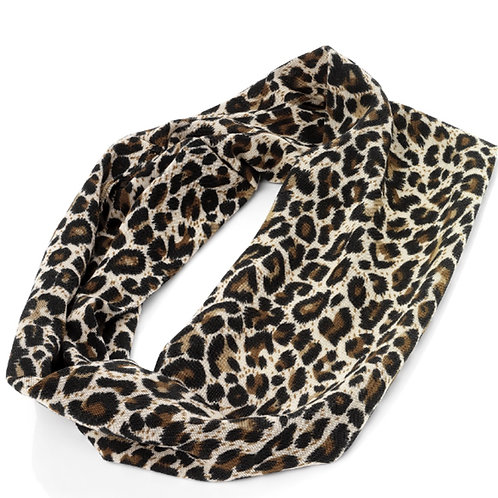 Brown Animal Print Stretchy Hair Wrap
