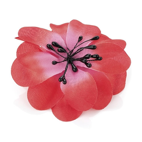 Pink Two Tone Hair Flower Clip