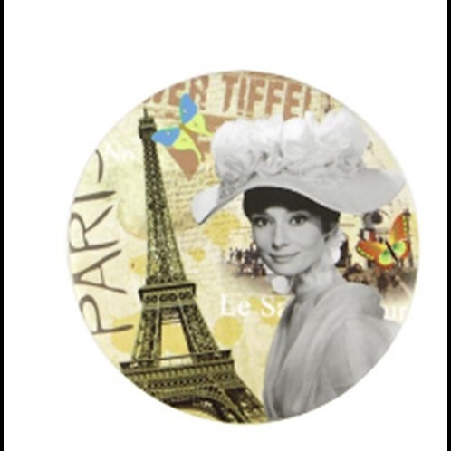 Audrey Hepburn Cosmetic Mirror Eiffel Tower