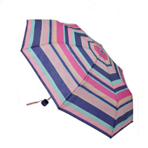 Multi Colour Pink Blue Manual Umbrella
