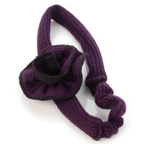 1950's Style Purple Stretch Hair Band