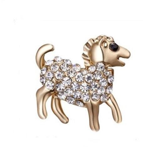 Tiny Gold Animal Sheep brooch