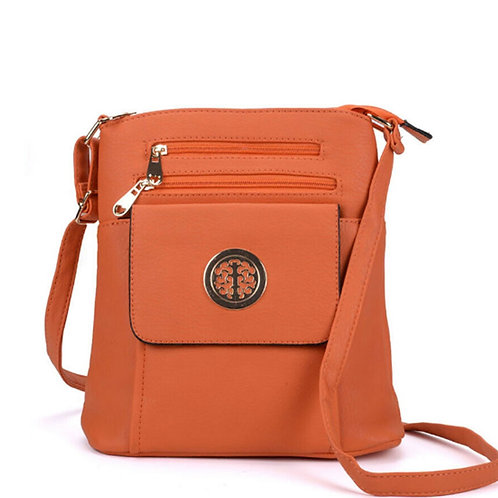 Womens Orange Cross Body Messenger Bag