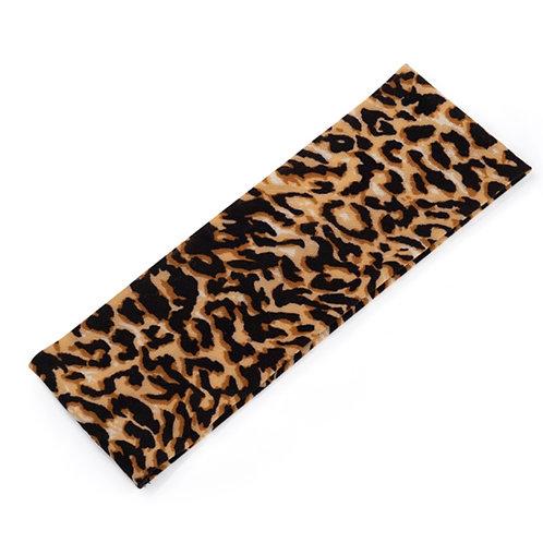 Brown Black Animal Print Stretchy Hair Band
