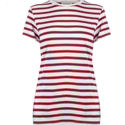 Rock Rags Red Striped Womens T Shirt Size Large