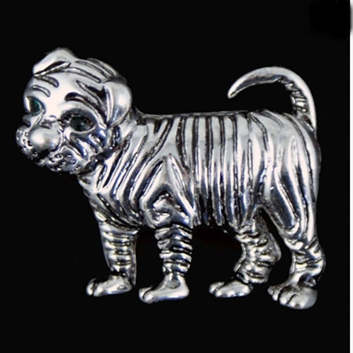 Shar Pei Animal Dog brooches Silver Gold