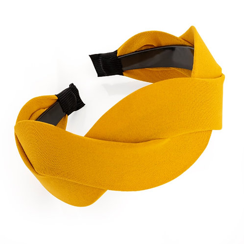Mustard Yellow Wide Plaited Hair band