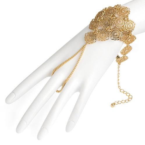 Gold Colour Bollywood Style BraceletRing Charm